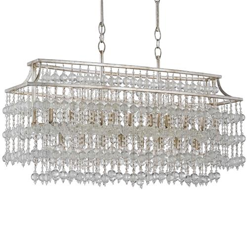 Havilland Hollywood Regency Crystal Beaded Cascade 17 Light Island Chandelier | Kathy Kuo Home