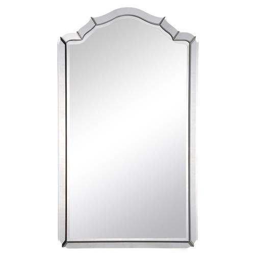 Sylvester Modern Classic Beveled Arch Frame Mirror | Kathy Kuo Home