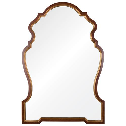 Jonzac French Country Burl Wood Gold Leaf Chippendale Mirror | Kathy Kuo Home