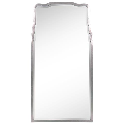 Ciara Modern Classic Antique Silver Leaf Iron Mirror | Kathy Kuo Home