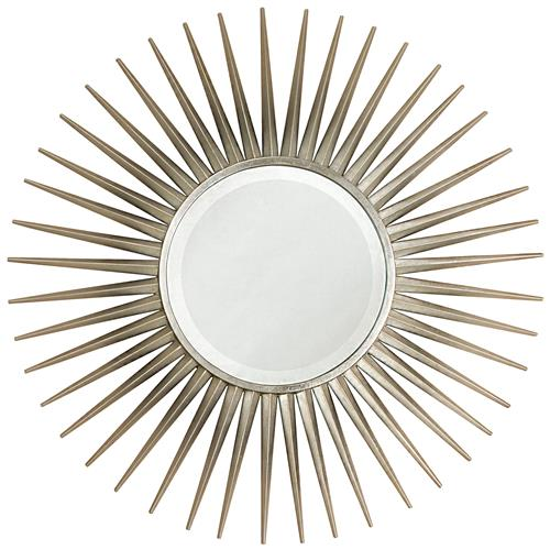 Hitchcock Hollywood Regency Silver Leaf Sunburst Mirror | Kathy Kuo Home