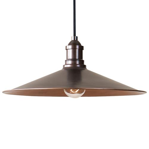 Kyler Industrial Loft Antique Copper Pendant | Kathy Kuo Home