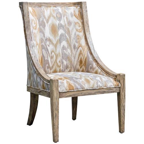 Tropez Coastal Beach Patterned Driftwood Chair Kathy Kuo