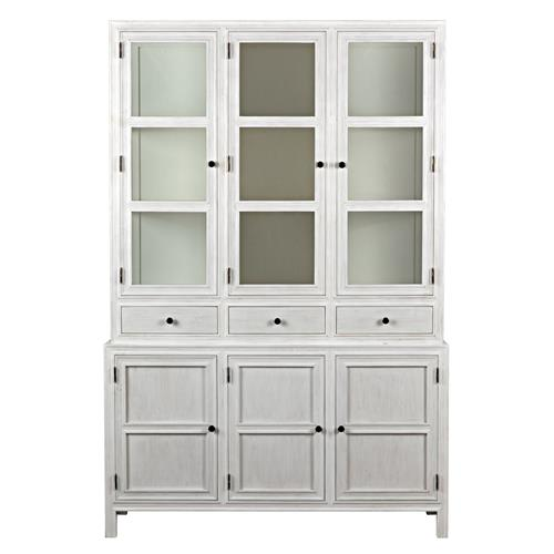 Jonah French Country Antique White Wash Colonial Hutch  : product12330 from www.kathykuohome.com size 500 x 500 jpeg 21kB