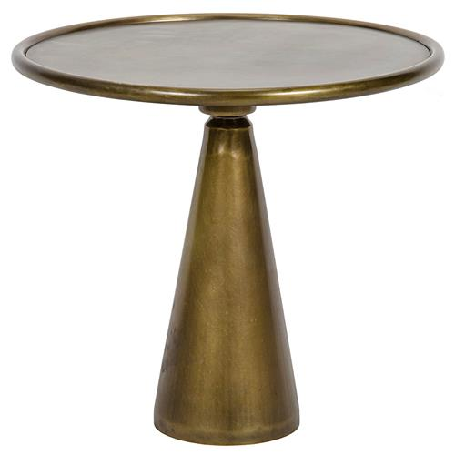 Tiana Hollywood Regency Brass End Table - 15.5 Inch | Kathy Kuo Home