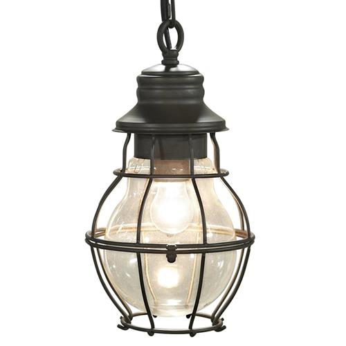 Thaddeus Industrial Loft Cage Vintage Glass Lantern | Kathy Kuo Home