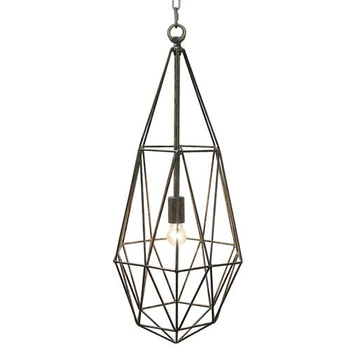 Reggie Industrial Loft Metal Tear Angled Pendant | Kathy Kuo Home