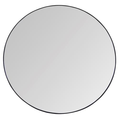 Bernie Industrial Steel Simple Round Mirror - S - 24D | Kathy Kuo Home