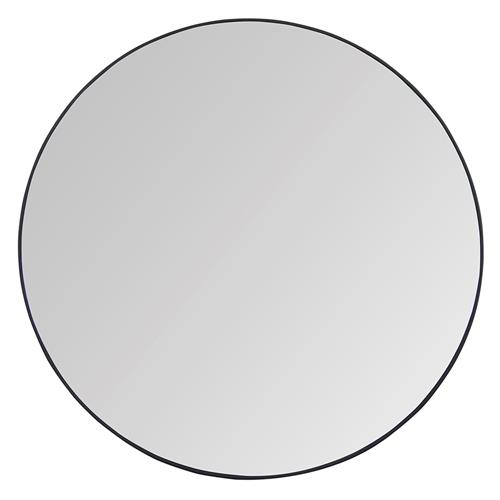 Bernie Industrial Steel Simple Round Mirror - L - 48D | Kathy Kuo Home