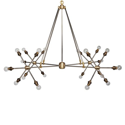 Patty Modern Classic 20 Light Antique Brass Split Chandelier | Kathy Kuo Home