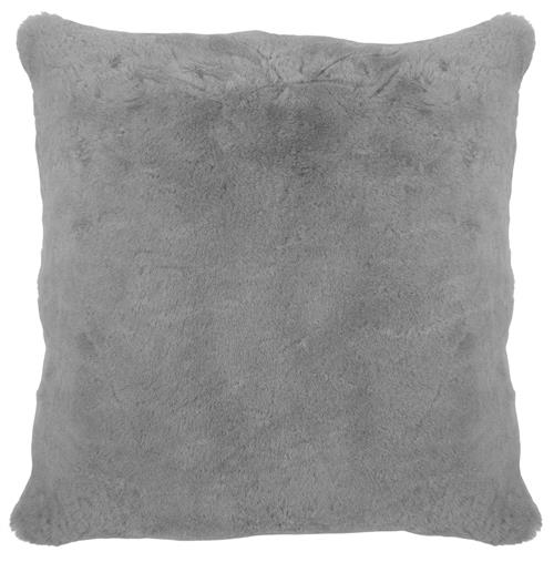 Argali Modern Narwhal Grey Short Wool Sheepskin Fur Pillow - 22x22 | Kathy Kuo Home