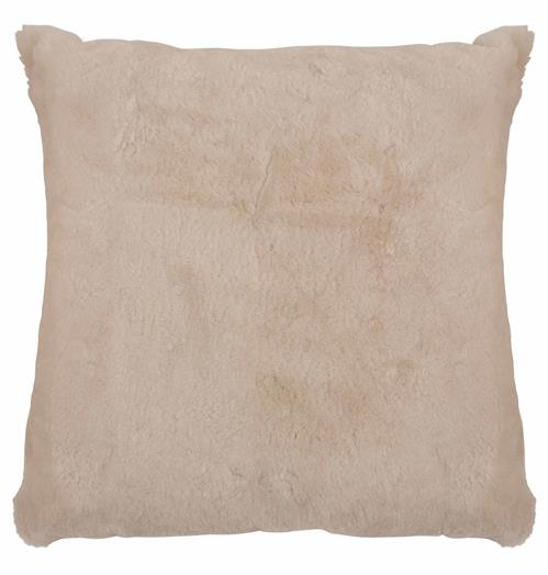 Argali Modern Pearl Short Wool Sheepskin Fur Pillow - 22x22 | Kathy Kuo Home