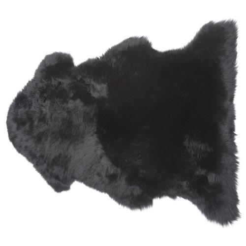 Veruca Modern Midnight Black Sheepskin Pelt Fur Rug - 2'x3' | Kathy Kuo Home