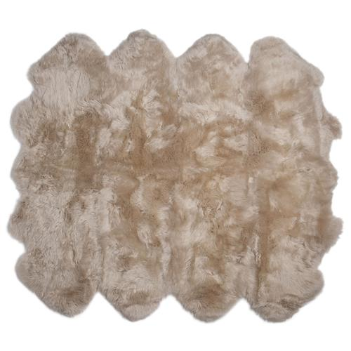 Veruca Modern Toasted Almond Sheepskin 8 Pelt Fur Rug | Kathy Kuo Home
