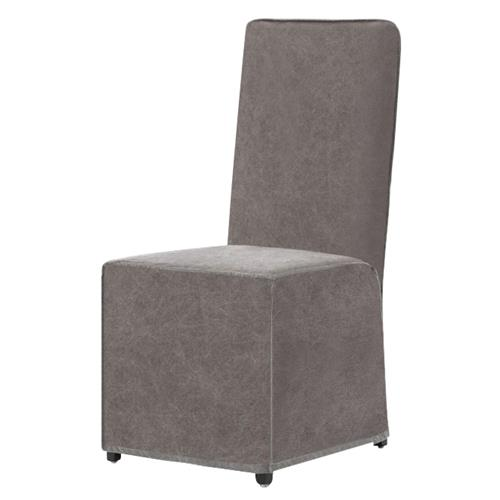 Jocelyn Modern Classic Stonewash Grey Slipcovered Dining Chair | Kathy Kuo Home