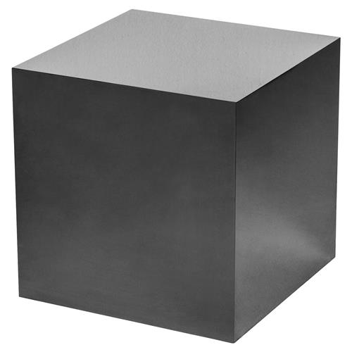 Interlude Aubrey Modern Classic Black Onyx Cube Side Table | Kathy Kuo Home