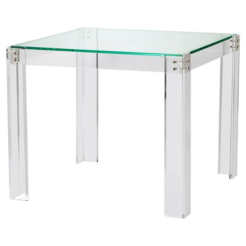 Interlude Gwenyth Modern Classic Acrylic Hinge Game Table | Kathy Kuo Home