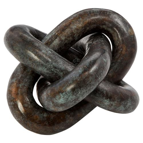 Interlude Interlude Wynn Modern Classic Rustic Bronze Knot Sculpture | Kathy Kuo Home