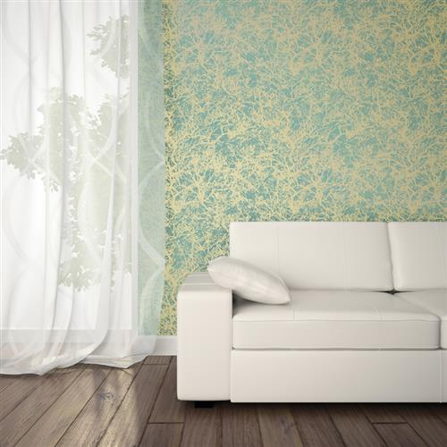 forest modern classic ocean gold removable wallpaper