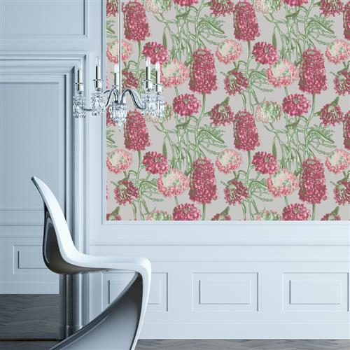 Hydrangea Modern Classic Blush Removable Wallpaper | Kathy Kuo Home