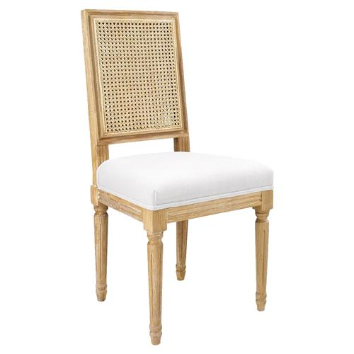 Bungalow 5 Annette French Country Brown Woven Dining Side Chair | Kathy Kuo Home