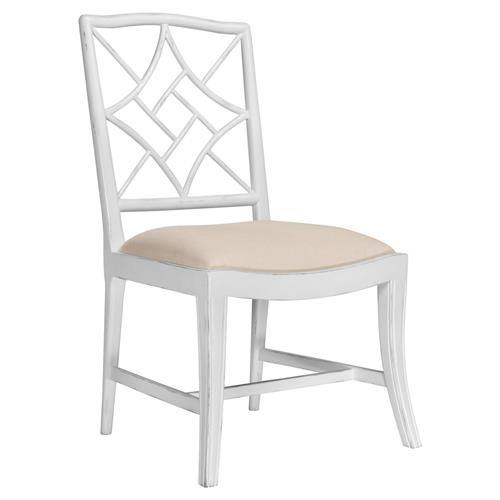 Lombard Hollywood Regency White Rustic Dining Chair | Kathy Kuo Home