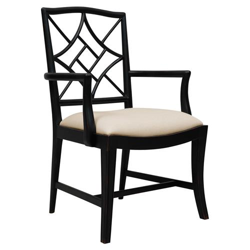Lombard Hollywood Regency Black Rustic Armchair | Kathy Kuo Home