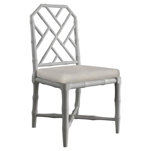 Fontaine Hollywood Regency Grey Bamboo Dining Chair | Kathy Kuo Home