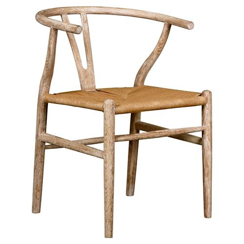 Bungalow 5 Oslo Mid Century Scandinavian Limed Oak Rope Side Chair | Kathy Kuo Home