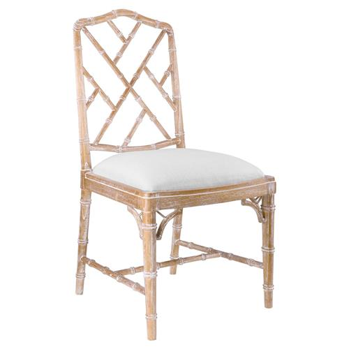 Landis Hollywood Regency Washed Bamboo Dining Chair | Kathy Kuo Home