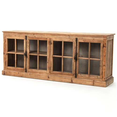 Marin French Country Reclaimed Pine Sideboard Cabinet | Kathy Kuo Home