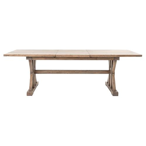 Lyle Lodge Reclaimed Pine Adjustable Dining Table | Kathy Kuo Home