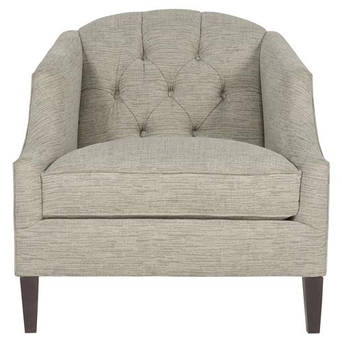 Juliet Hollywood Regency Tufted Grey Tweed Chair | Kathy Kuo Home