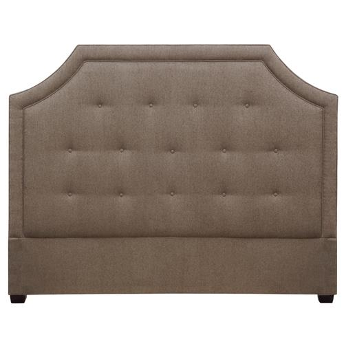 Cressida Modern Upholstered Moss Brown Queen Headboard | Kathy Kuo Home