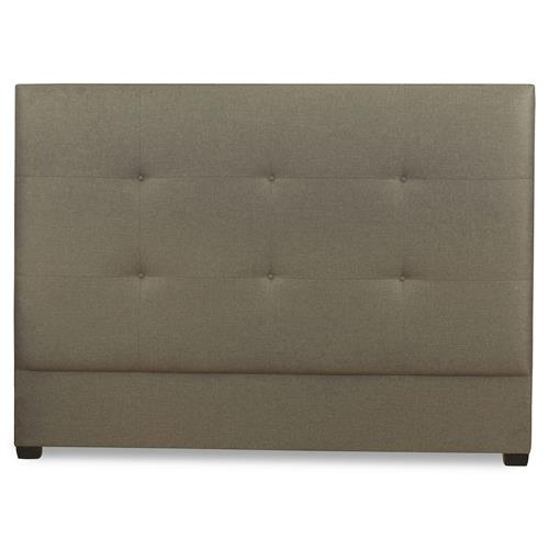 Renner Modern Classic Crisp Grey Tufted Queen Headboard | Kathy Kuo Home