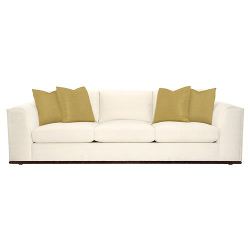 Luna Modern Classic Matte Gold Ivory Sofa | Kathy Kuo Home