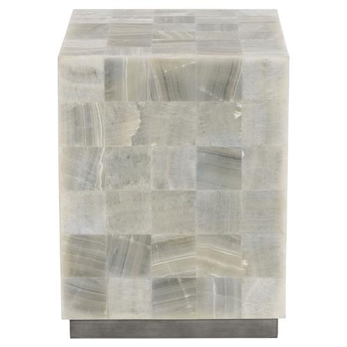 Trumbull Modern Global Stone Tile Side Table | Kathy Kuo Home