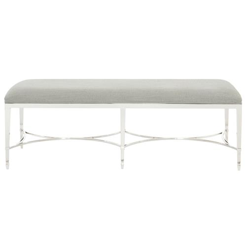 Gretta Radiant Regency Heather Grey Steel Bench | Kathy Kuo Home