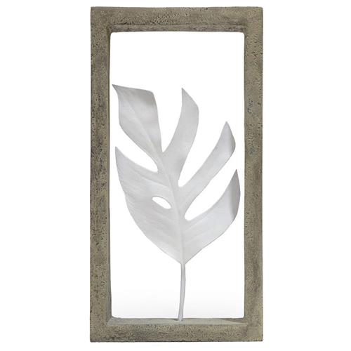 Palecek Indoor Coastal Beach Monstera Leaf Shadow Box | Kathy Kuo Home