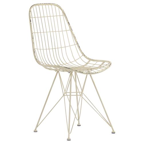 Wilder Modern Classic Rustic Ivory Wire Barrel Chair | Kathy Kuo Home
