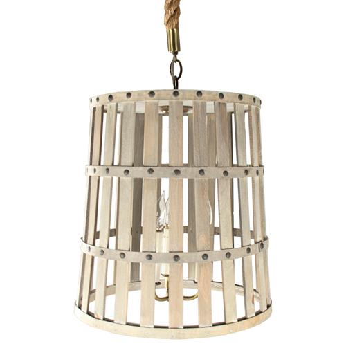 Frasier French Country Provincial Basket Beige Pendant | Kathy Kuo Home