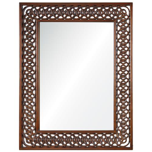 Nomusa Global Bazaar Hand Carved Wood Mirror | Kathy Kuo Home