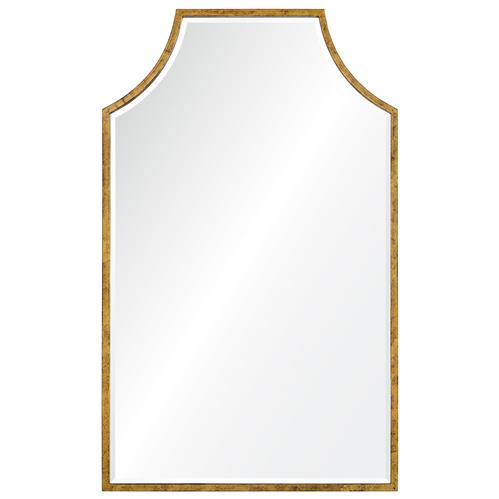 Gerta Modern Classic Gold Leaf Mirror | Kathy Kuo Home