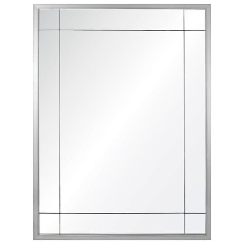 Ellen Modern Classic Silver Leaf Panel Mirror | Kathy Kuo Home