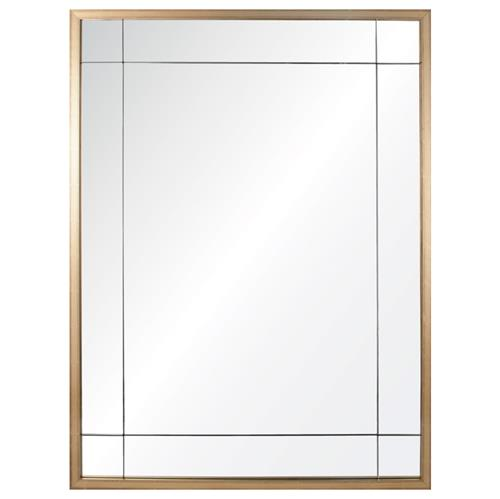 Ellen Modern Classic Gold Leaf Panel Mirror | Kathy Kuo Home