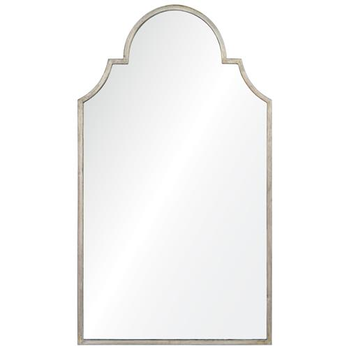 Patricia Hollywood Regency Silver Leaf Mirror | Kathy Kuo Home