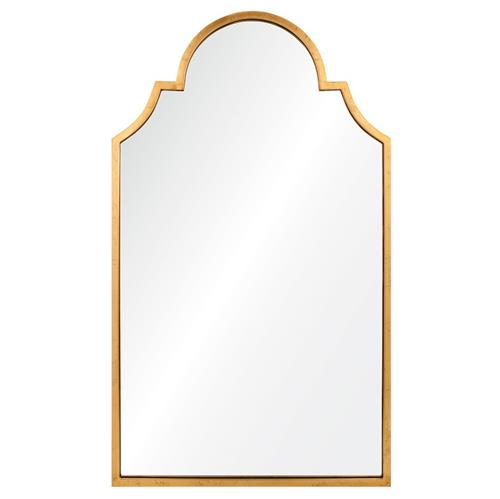 Patricia Hollywood Regency Gold Leaf Mirror | Kathy Kuo Home