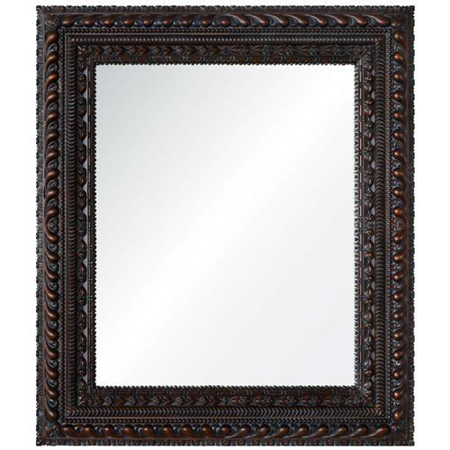 Themba Global Bazaar Dark Brown Hand Carved Mirror | Kathy Kuo Home