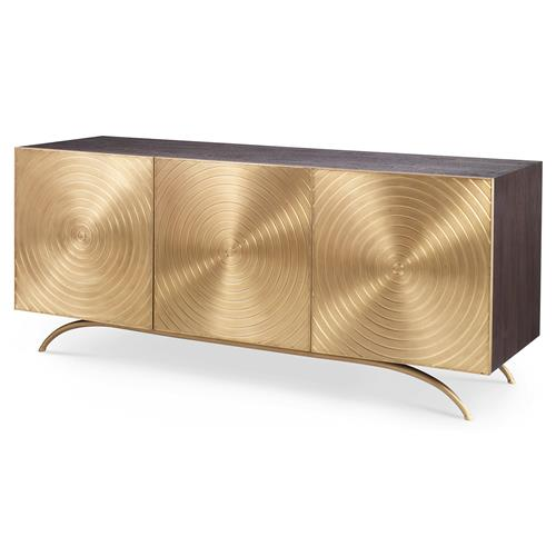 Mr. Brown Claudio Modern Regency Gold Sideboard Cabinet | Kathy Kuo Home