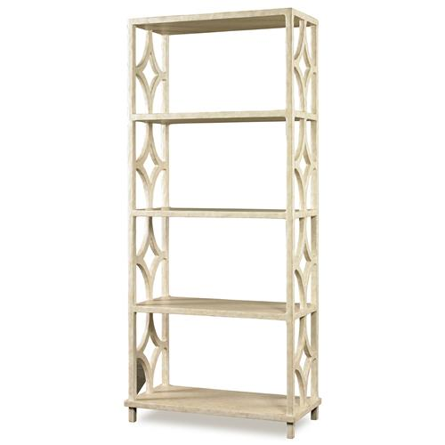 Mr. Brown Wolfgang Modern Classic Antique Ivory Fret Bookcase | Kathy Kuo Home